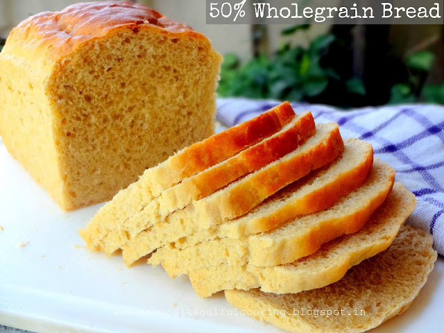50% wholegrain bread