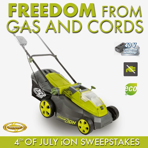 SunJoe iON Cordless Lawn Mower Giveaway. Ends 7/4.