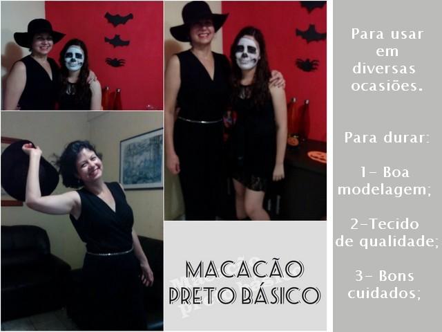 Alinhavos de Moda: Meu macacão preto, longo, básico.