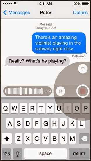 iphone voice message