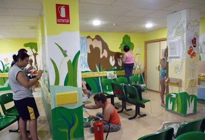 Green Pear Diaries, arte, Colores para alegrarte, Hospital Infantil Reina Sofía