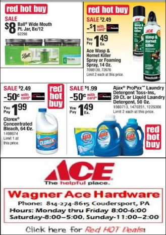 Red Hot Buys At Wagner Ace