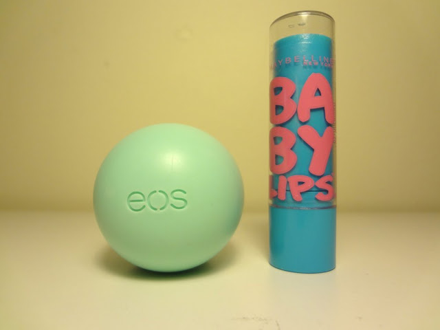 sweet mint eos lip balm, maybelline baby lips quenched lip balm