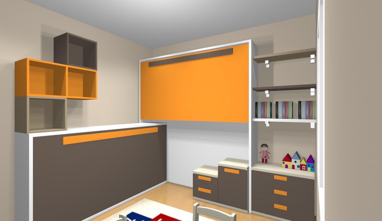 Dormitorios juveniles con litera - Como hacer una cama abatible ...