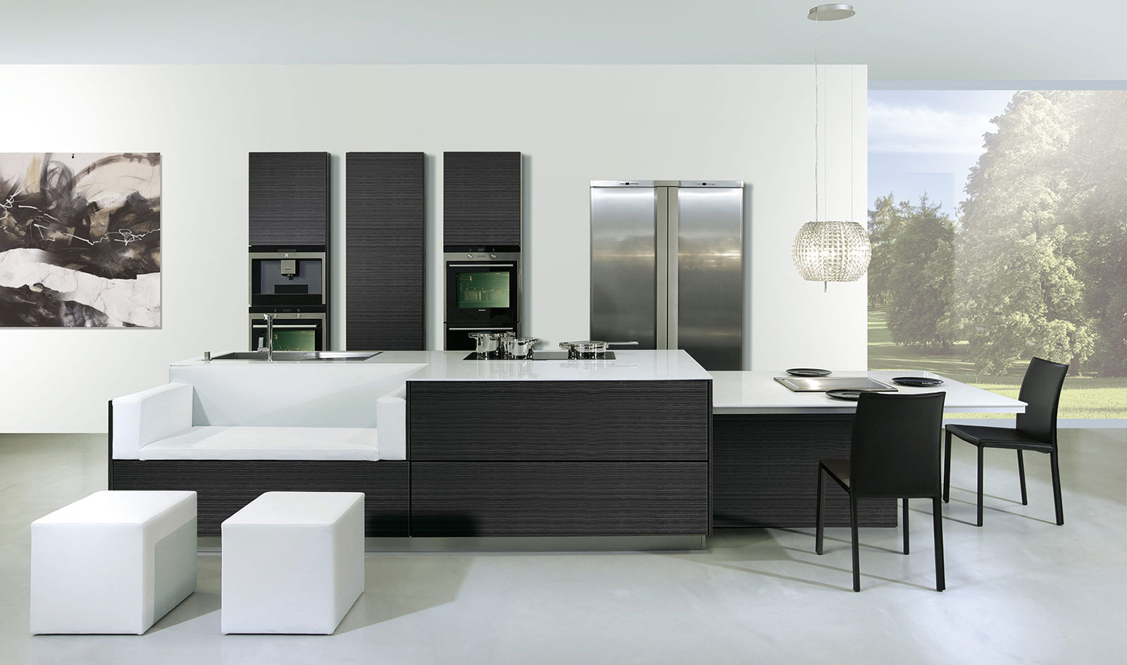 C mo distribuir el espacio en la cocina cocinas con estilo for Isla de cocina con mesa