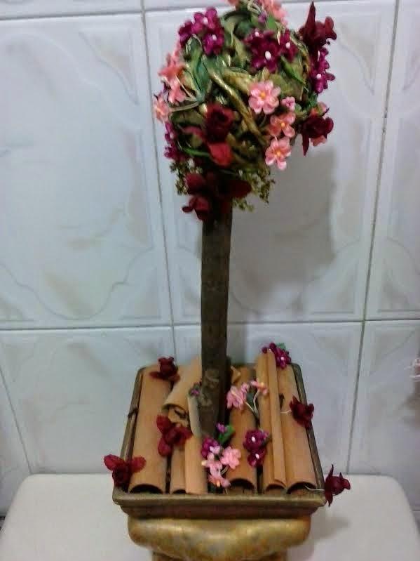 Desouvre Como Hacer Un Topiario Sencillo Y Aromatizador Con Flores - Manualidades-con-flores-artificiales