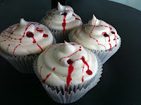 True Blood Party Food Bloody Cupcakes @ northmans party vamps