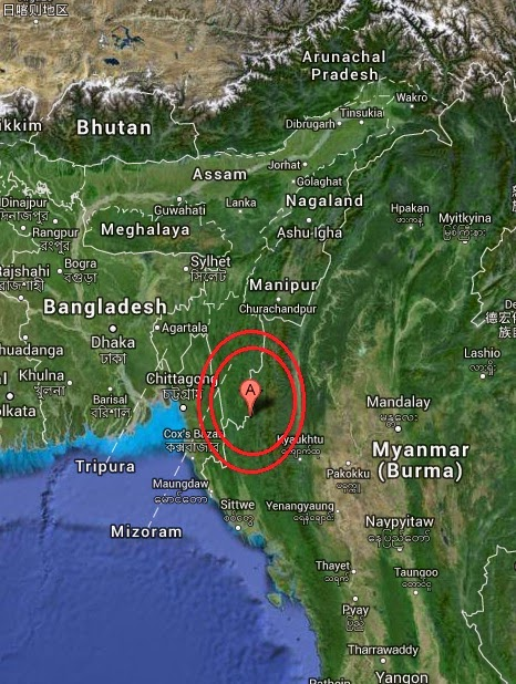 Magnitude 5.4 Earthquake of Saiha, India 2014-09-09