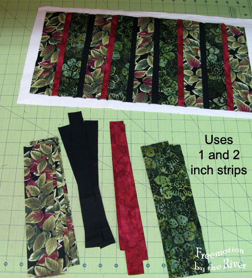 use one and two inch fabric strips