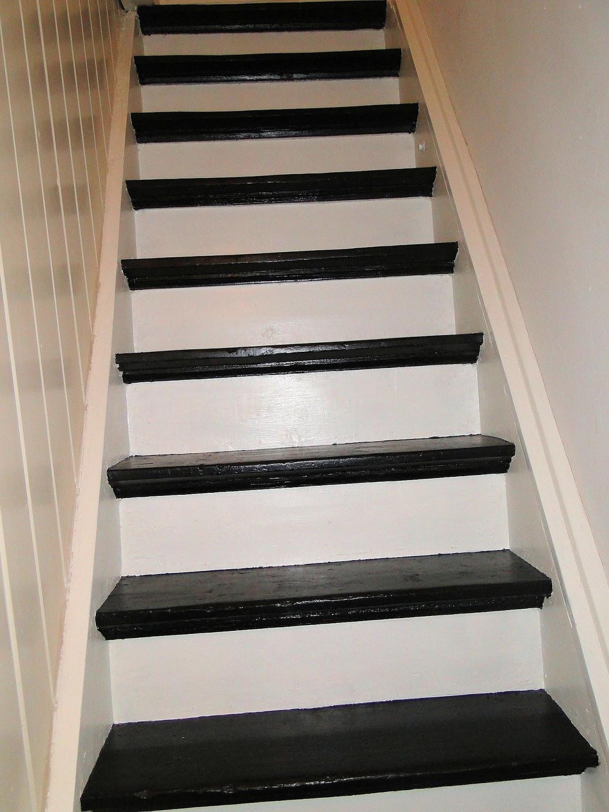 Gek op zwart wit zwart wit trap bij een vriend - Versier een trap ...