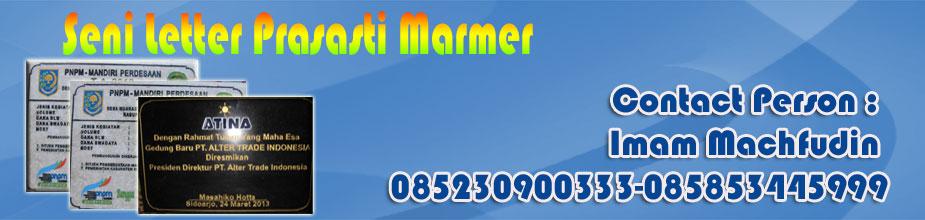 Seni Letter Marmer | Prasasti Marmer