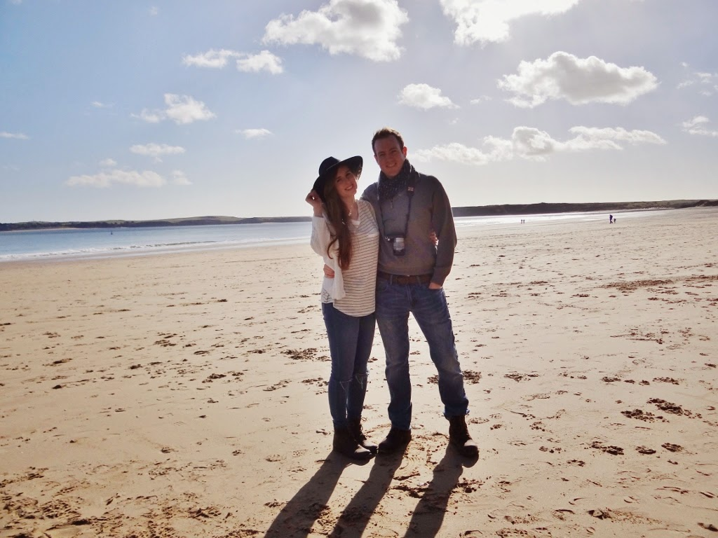 couples beach to wales at bluestone national park