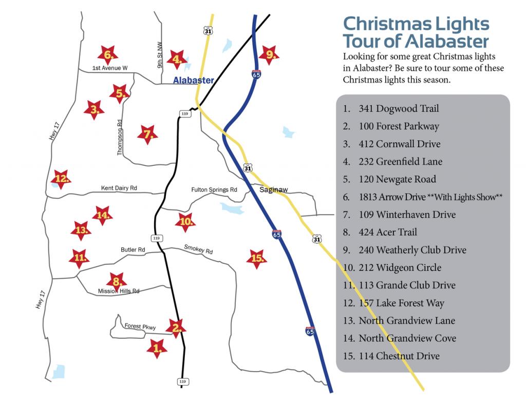 Christmas Lights Tour Alabaster
