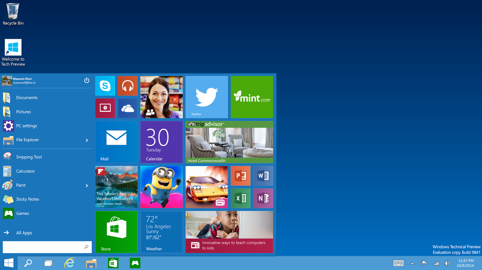 Download windows 10 technical preview latest freeware for New windows software