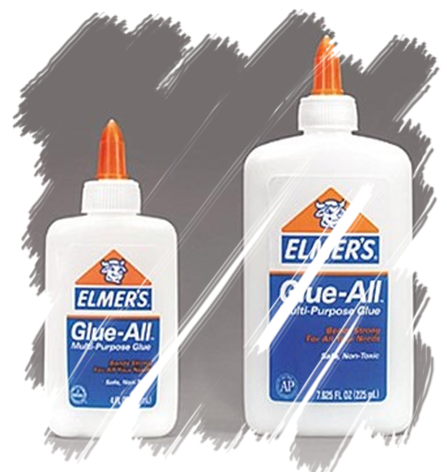 ... old Elmer's Glue for the liquid latex. Though I wish I could have used liquid latex, just to know the difference of the outcome.