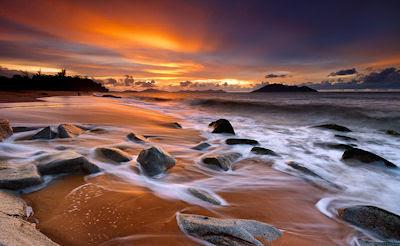 Puesta de sol en la playa - Atardecer - Sunset at the beach