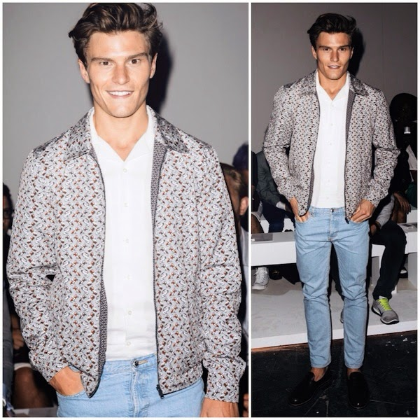 Oliver Cheshire Dolce Gabbana car print reversible jacket London Collections Men 2015 LCM