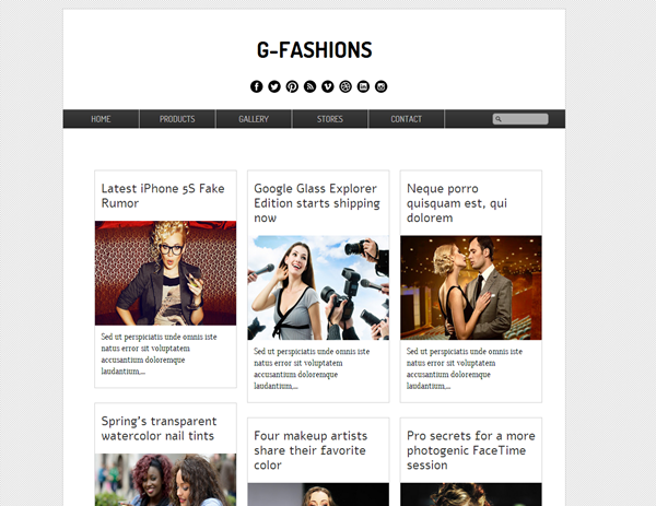 G-Fashions Free Blogger Template Download