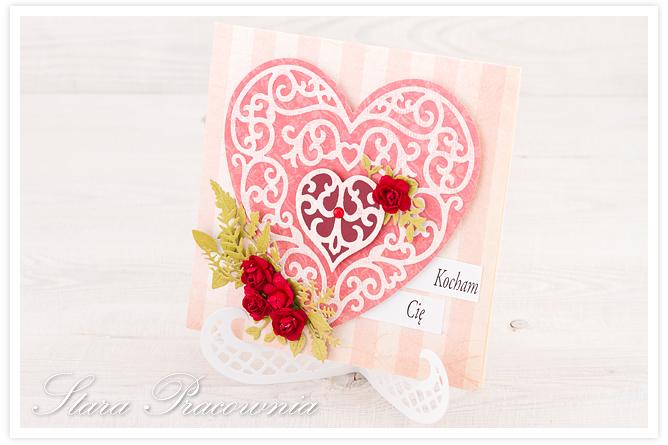 kartki ręcznie robione, walentynki, kartka na walentynki, cardmaking, scrapbooking, kartki z sercem, kartka z sercem