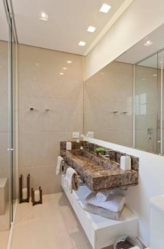 banheiro decorado, pequeno