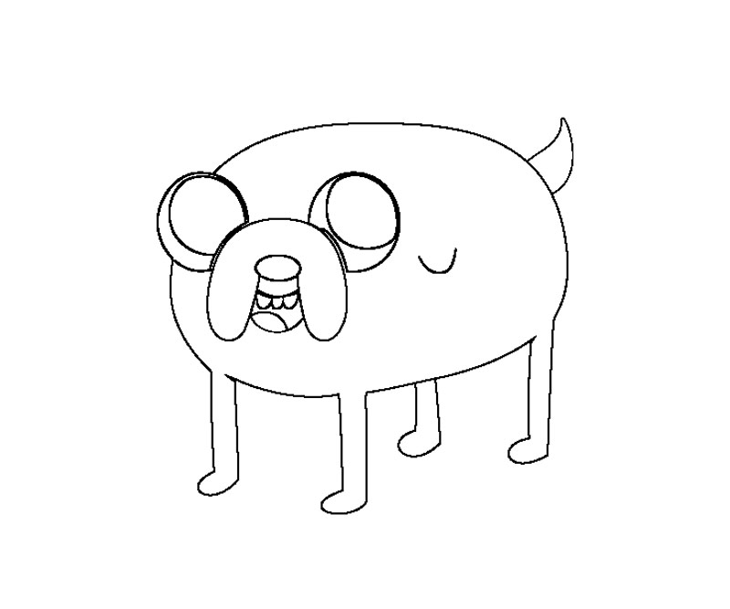 free jake adventuretime coloring pages