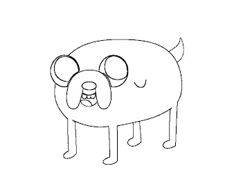 #6 Jake Coloring Page