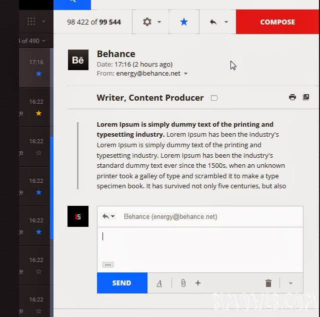 Gmail Redesign Concept 2014