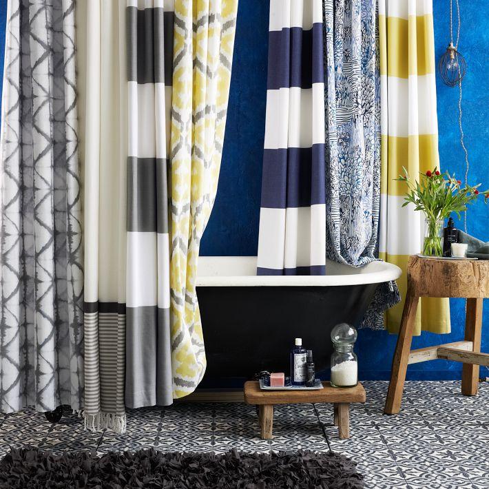 Decoraci n f cil cortinas para el ba o - Cortinas bano originales ...