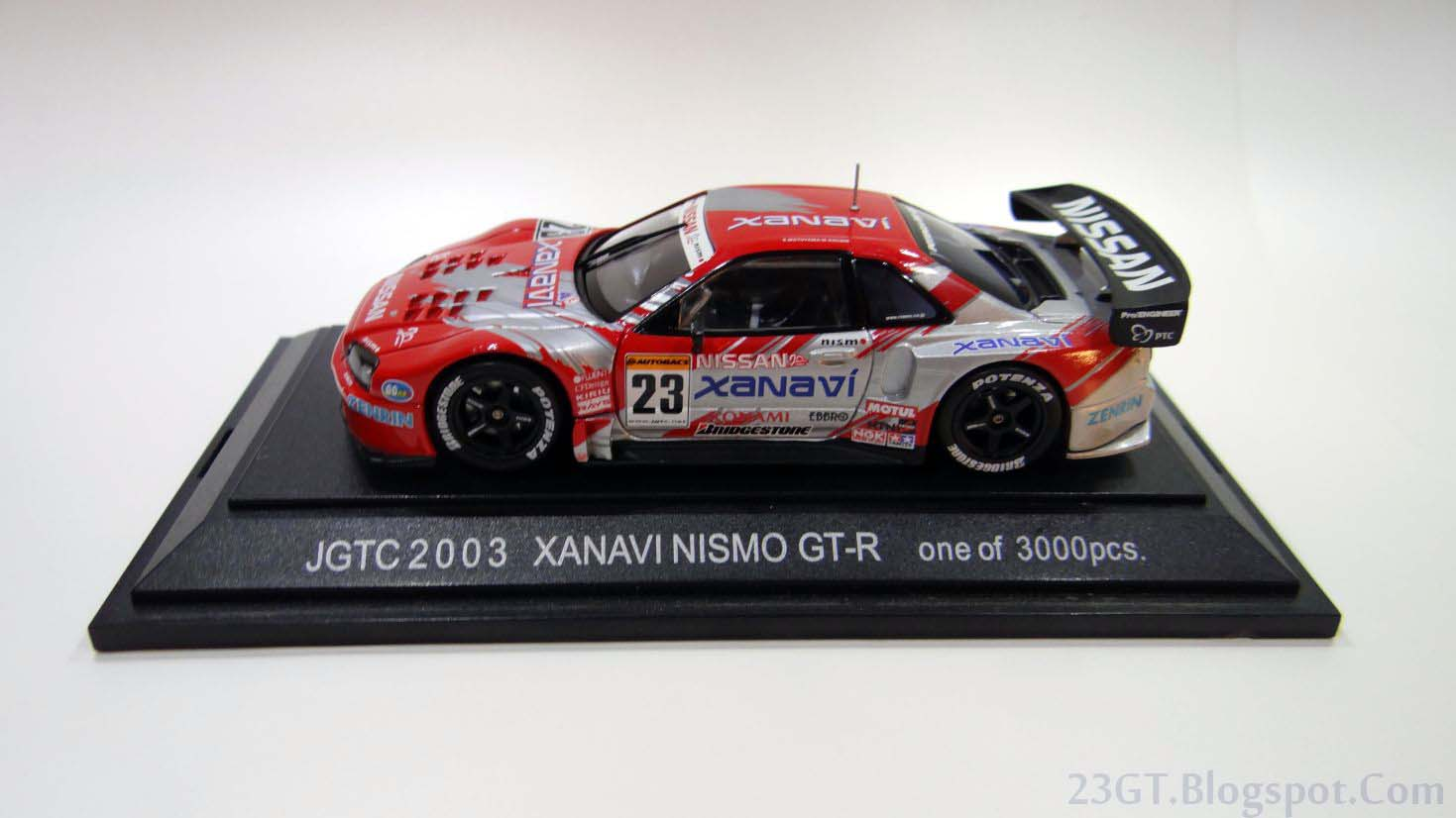 Auto modellista ebbro 143 2003 xanavi nismo skyline gt r 23gt coming into 2003 nissan was going through a bit of a dry spell in gt500 theyd won the drivers title in 1999 when the r34 first debuted then almost vanachro Choice Image