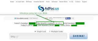 Cara Mendapatkan Uang ($) dari Adfoc.Us