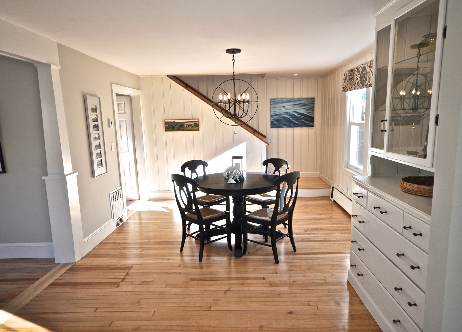SoPo Cottage Dining Room And Foyer Before After Knotty Pine