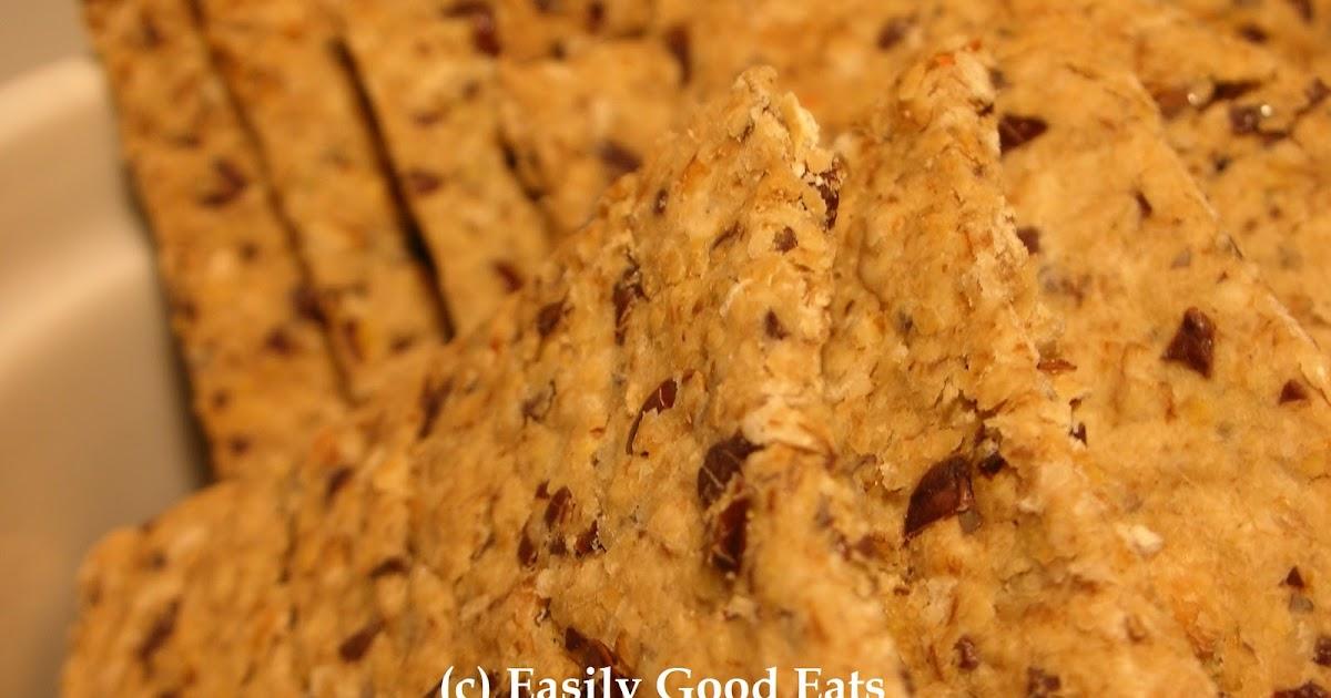 Easily Good Eats: Flax Seed Oat Crackers Recipe