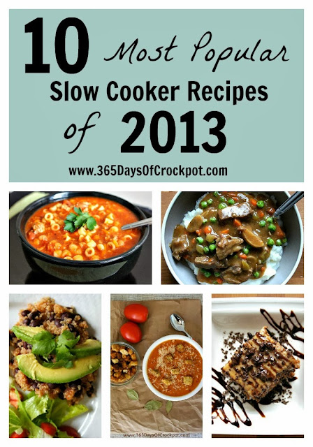 10 Most Popular Slow Cooker Recipes of 2013 from 365DaysOfCrockpot.com  #slowcooker #crockpot