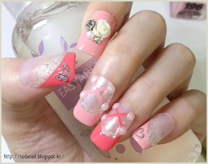 Sodanail Ballet Shoes Nail Art Pink French Nails