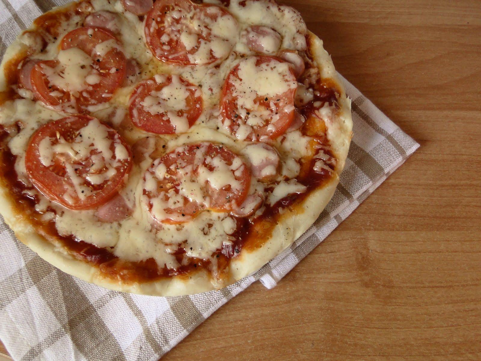 Пицца с кетчупом и майонезом рецепт пошагово