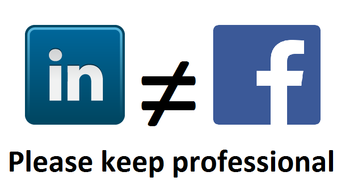 difference between linkedin facebook