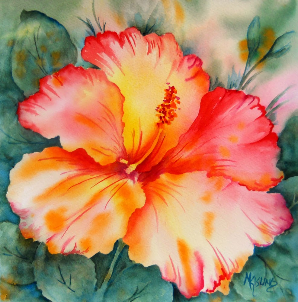 Watercolor Flower Painting: Martha Kisling Art With Heart : July 2014