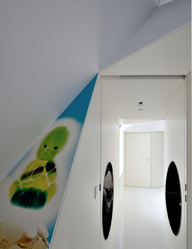 Colorful drawing on the white wall