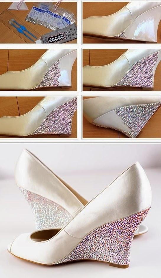 Como Modernizar Zapatos de Tacon con Perlas