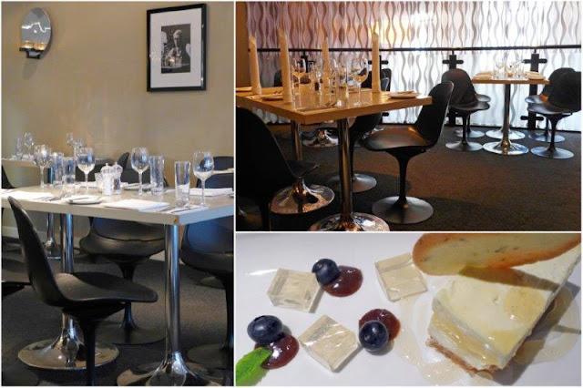 Comedor del Restaurante Cocoa en Aberdeen, tarta de queso con crema de limón