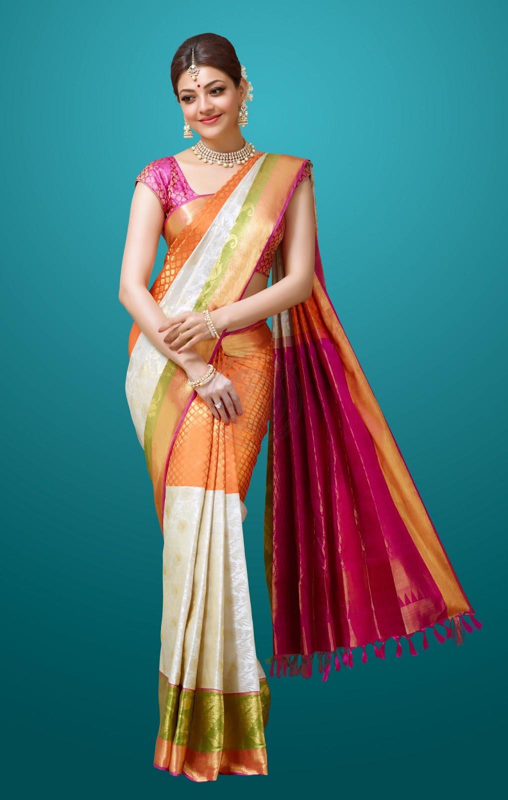 Kajal in Chennai Silks Ad