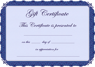 Free Blank Birthday Gift Certificate Template