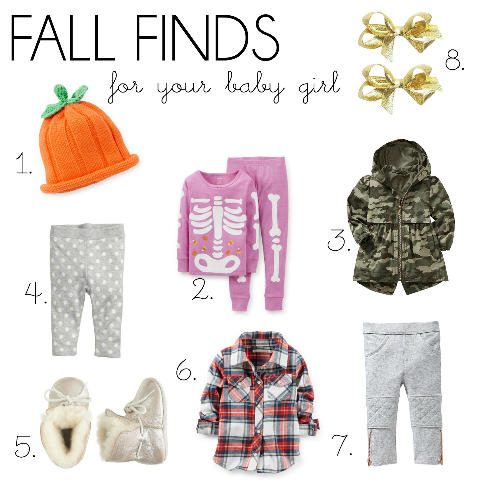 baby girl fall clothing