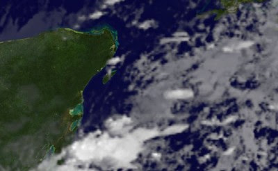 OPHELIA, NALGAE, PHILIPPE & CANCUN am 4. Oktober 2011, Ophelia, Nalgae, Philippe, Cancún, Oktober, 2011, Taifunsaison, Hurrikansaison 2011, aktuell, Satellitenbild Satellitenbilder