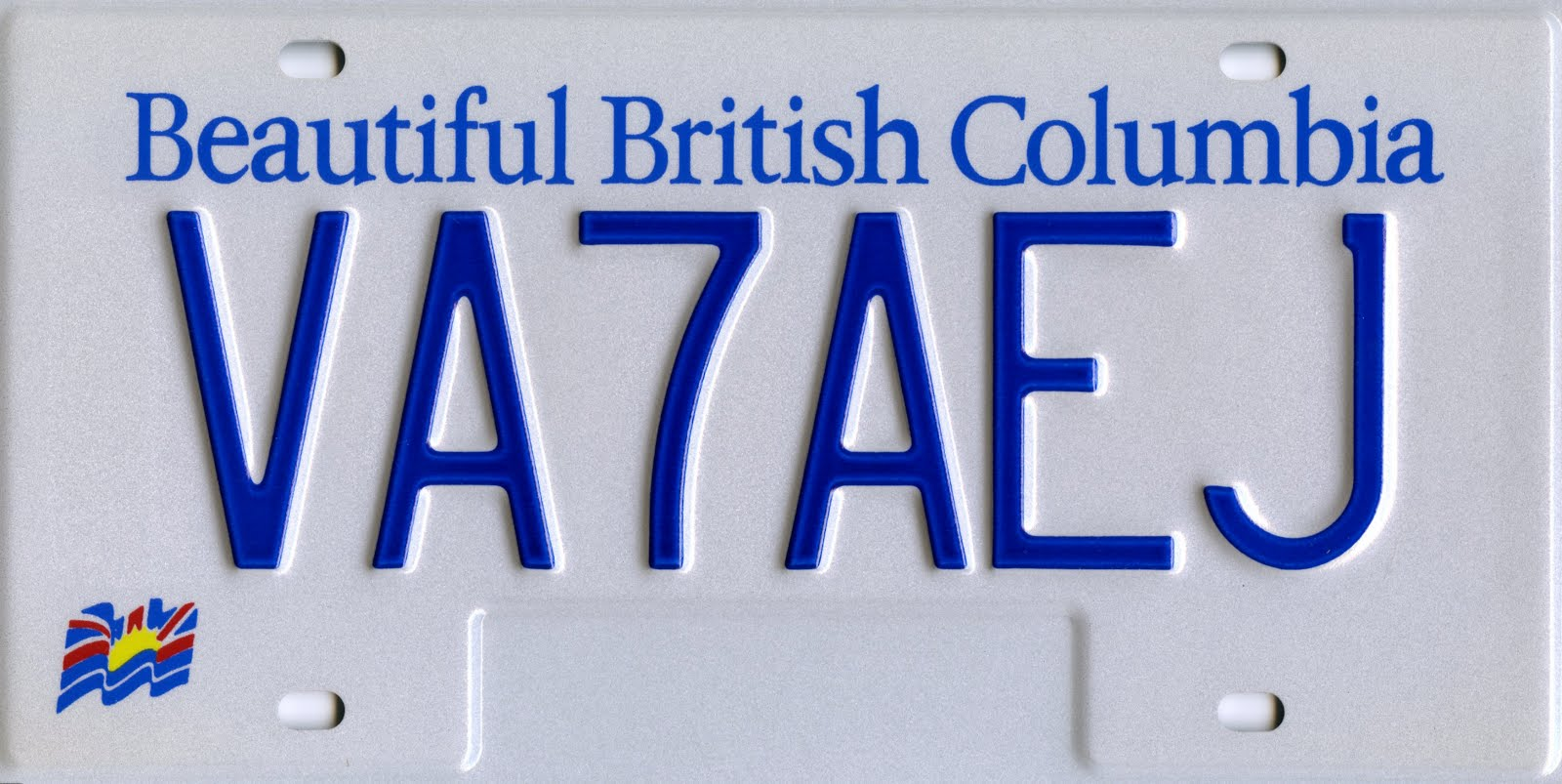 BC Ham Radio License Plate