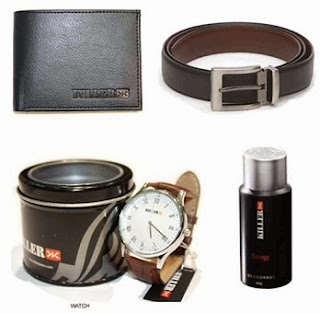 Killer Combo Of Four (Watch + Wallet + Deo + Belt) worth Rs.2866 for Rs.999 Only