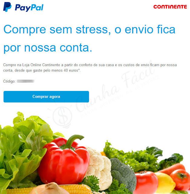 continente online sonae paypal compras dinheiro carrinho