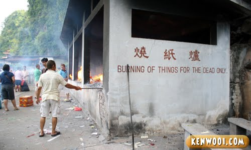 cheng beng burn site