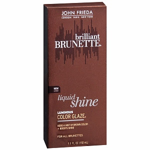 John Frieda, John Frieda Brilliant Brunette Liquid Shine Luminous Color Glaze, haircolor, hair color, hair treatment, shine treatment