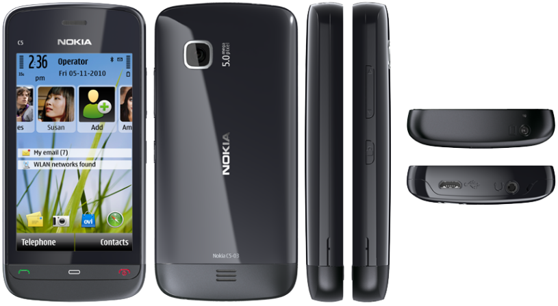 Características y especificaciones del Nokia C5-03.